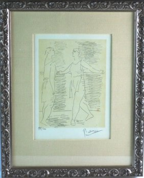 Signed Picasso Etching