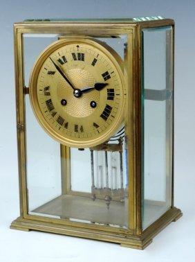 Tiffany & Co Crystal & Bronze Regulator Clock