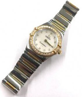 Original Omega Constellation W. Diamond Bezel Mop Face