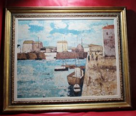 Antique Original Signed Bruno Grosse Oil On Canvas
