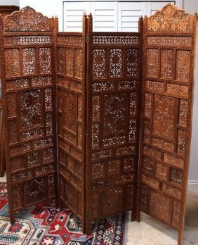 Ancient C1700 Beautiful Indo-persian Teak Wall Panels /