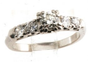 Diamond Ring Platinum Gla Certified