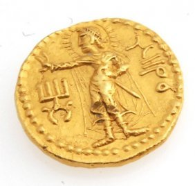 Kushan Gold Coin Grandfather Kushan Period Kanishka