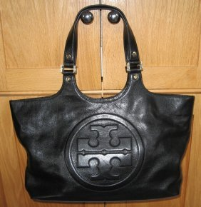 Tory Burch Black Leather Purse Handbag