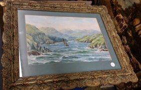 Antique C1880 Signed & Dated Original Water Color In