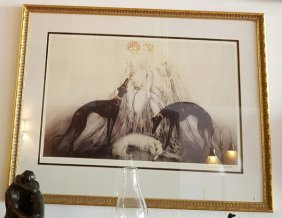 Antique C1930's French Louis Icart Signed Lithograph