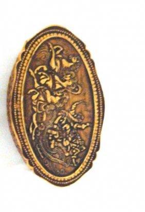 Antique Russina Carved Birch Bark Wooden Trinket Box
