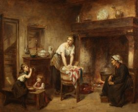 CAILLE FRENCH 19THC GENRE PAINTING