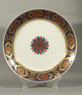IMPERIAL RUSSIAN PORCELAIN PLATE GOTHIC SERVICE NI