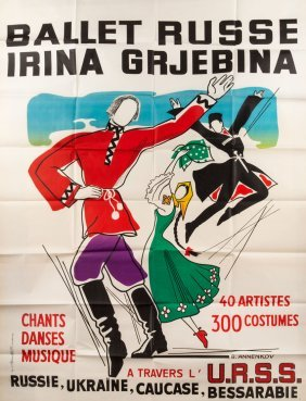 Ballet Russe Poster By Yuri Annenkov (russian