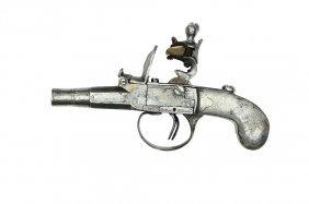 Double Barrel Flintlock Pistol, French Ca. 1800