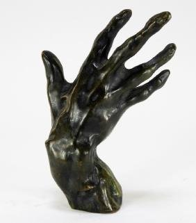 Aft. Auguste Rodin Bronze Model of a Hand