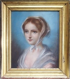 French Young Parisian Girl Portrait Painting