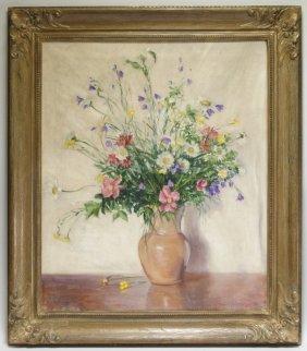 Johann Berthelsen Floral Still Life Painting