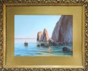 Antonio Coppola Italian Seascape Painting