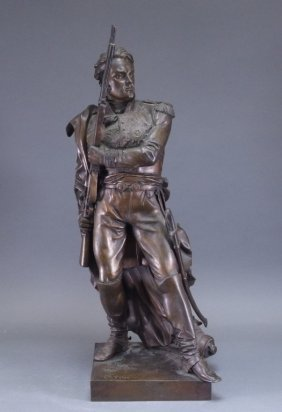 Charles Petre French Bronze Soldier Sculpture