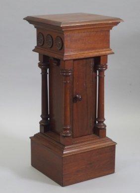 Victorian Walnut Pedestal Cabinet
