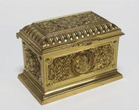 European Bronze Jewelry Casket Box