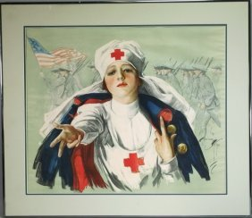Harrison Fisher American Red Cross Wwi Poster