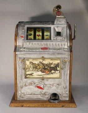 Vintage Mills 5 Cent Owl Slot Machine