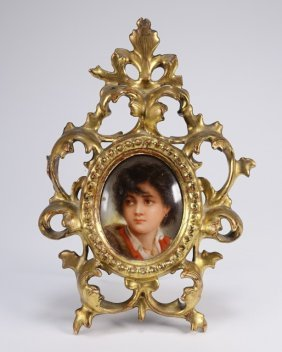 Neapolitan Boy Hand Painted Porcelain Plaque