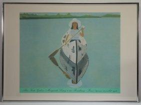 Alex Katz Gallery Print Of Woman In Canoe