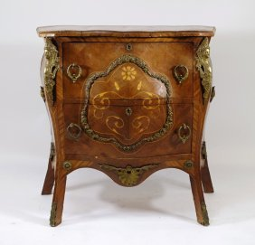 French Marquetry & Brass Bombay Chest
