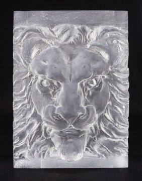 Steven Weinberg Modern Art Glass Sculpture Lion