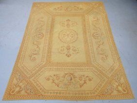 Antique French Aubusson Carpet Rug
