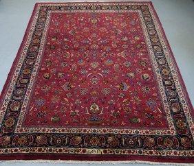 Persian Mashad Signed Room Carpet Rug