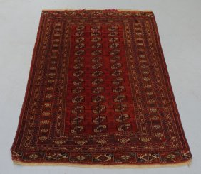Antique Middle Eastern Tekke Bokhara Rug