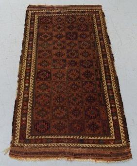 Antique Persian Belouch Brown Rug
