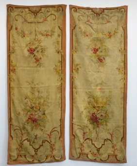 Pr French Aubusson Hanging Panel Tapestries