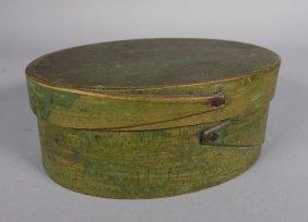 Light Green Wash Primitive Folk Art Pantry Box