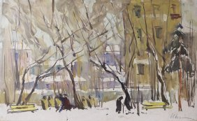 Ivan Kondratevich Gubski Russian City Painting