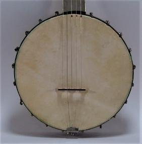 Antique Dobson Matchless Steel And Wood Banjo