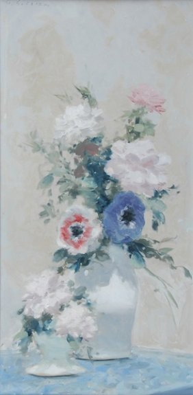"""ANDRE GISSON (American 1921-2003) A PAINTING, """"Flor"""