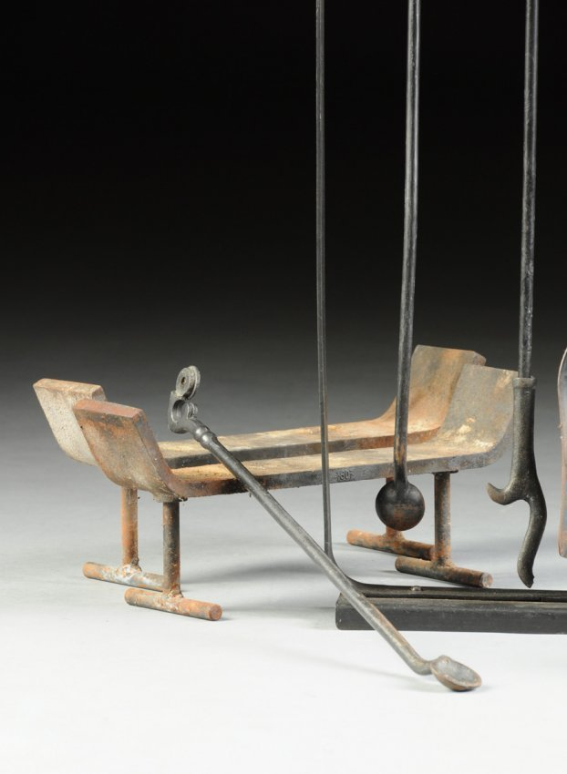 samuel marx  american 1885 1964  a pair of patinated lot 455 cast iron fireplace totnes cast iron fireplace tools canada