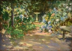"Irving Wiles (american 1861-1948) A Painting, ""pathway"