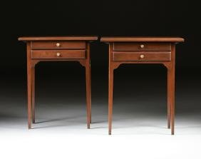 A PAIR OF FEDERAL STYLE MAHOGANY SIDE TABLES, 20TH