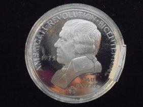 1975 Us Mint Paul Revere Silver Bicentennial Pf Medal