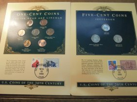 1 Cent & 5 Cent Coin & Stamp Sets 1 Cent Contains: