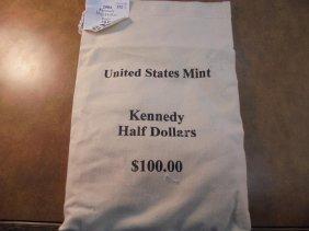 Us Mint Sealed $100 Bag Of 2004-p & D Kennedy Half