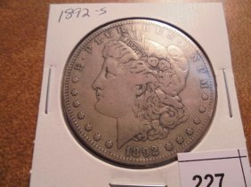 1892-s Morgan Silver Dollar Better Date Coin