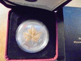 2008 Canada 20th Anniversary Silver $5 Maple Leaf Gold