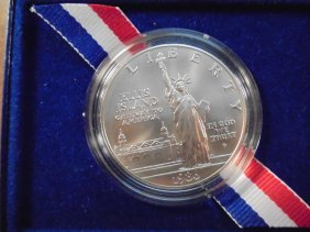 1976-p Statue Of Liberty Silver Dollar Unc Original Us