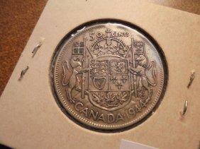 1914 Canada Silver Half Dollar