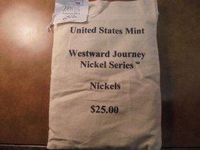 Us Mint Sealed $25 Bag Of 2005-p Bison Nickels Unc