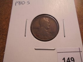 1910-s Lincoln Cent (semi-key) (fine)