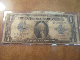 1923 Large Size $1 Silver Certificate Blue Seal Horse